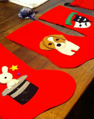 Christmas Stockings by The Old School Club - crafts in London