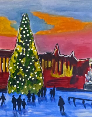 Paint Trafalgar Square for Christmas by PopUp Painting - art in London