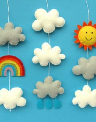 Make a Baby Mobile Out of Felt with Laura Howard by The Village Haberdashery - crafts in London