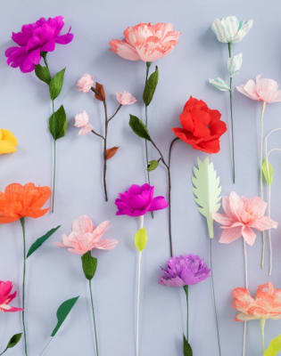 Paper Flower Making Workshop with Nancy Straughan by The Village Haberdashery - crafts in London