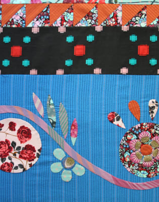 Folk Flower Block with Anna Maria Horner by The Village Haberdashery - crafts in London