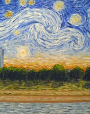 Paint Starry Night over Hyde Park: London Bridge by PopUp Painting - art in London