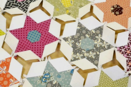 Paper piecing patchwork - Obby