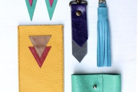 Learn to work with leather: accessorize - Obby