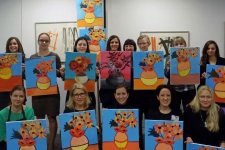 Paint Van Gogh's Sunflowers: - Obby