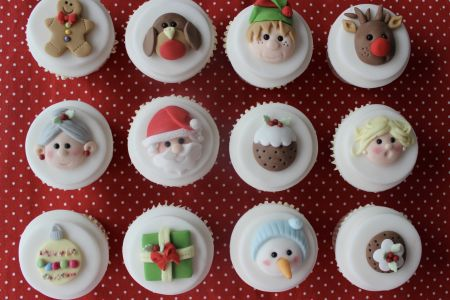 Christmas Characters Cupcake Class - Obby