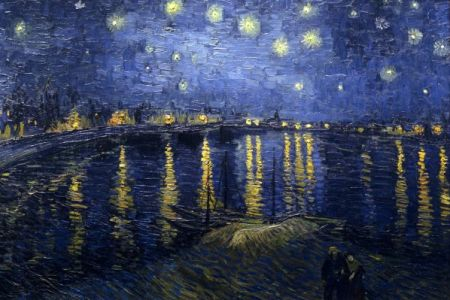 paint Van Gogh's Starry Night in Canary Wharf