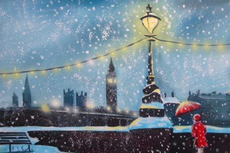 Learn how to pain London being inspired by the city of London and the painting of Bruswick