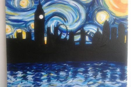 Learn how to paint starry night over London in London