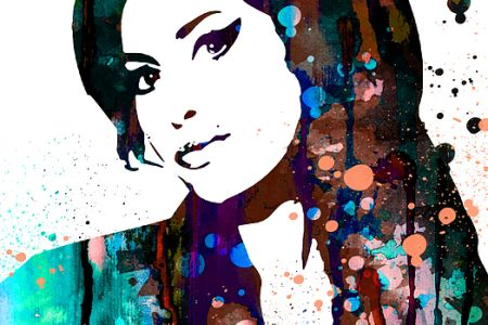 Learn how to paint with popup painting London in Camden by painting an image of amy winehouse