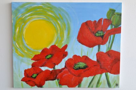 Discover your passion for painting with popup painting london in Clapham by painting the poppy and having fun with your friends