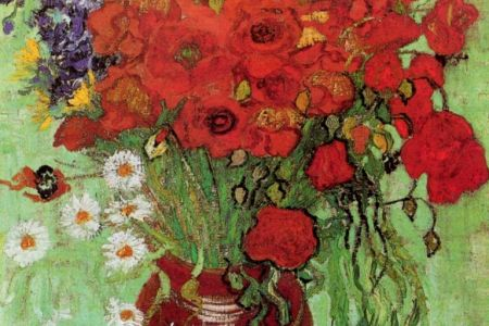 Learn how to paint with Popup painting London in Bayswater London, painting Van Gogh's poppies painting