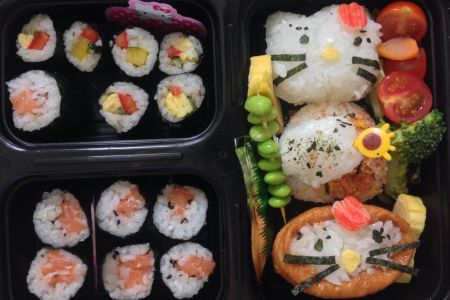Make a Hello Kitty Bento Box in a class with Alice Sushi Art in Highgate - Obby