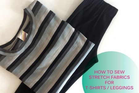 How To Sew Stretch Fabrics and Make T-Shirts - Obby