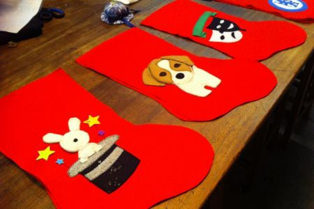 Make Christmas stockings in Battersea - Obby