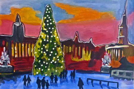 Paint Trafalgar Square for Christmas - Obby