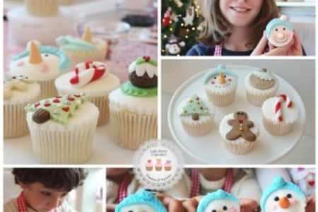 Parent & Child Family Christmas Cupcakes Class in Wandsworth - Obby