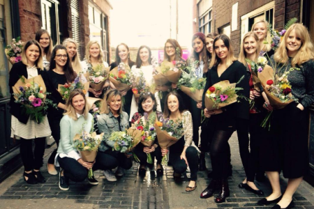 Create a hand tied bouquet with Grace & Thorn in Hackney - Obby