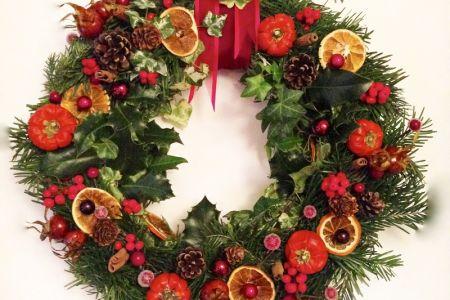 Join a christmas wreath workshop in London Bridge