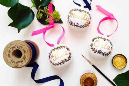 Make your own hand crafted Christmas bauble