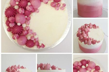 Create a stunning ombre sharp edge buttercream cake