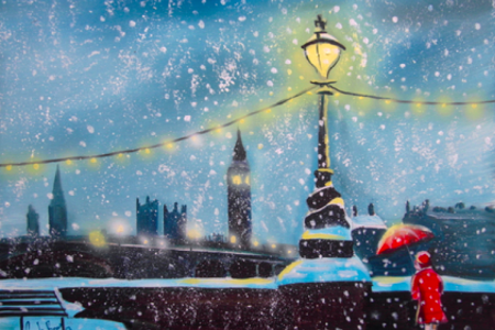 Painting of London in the winter by PopUp painting students