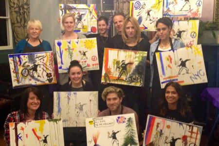 Paint like Banksy class in London by PopUp Painting and Obby