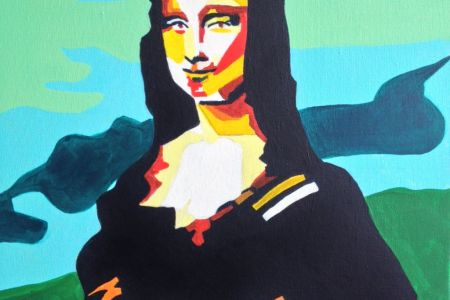 Join this fun and interactive PopUp Painting class and paint the world's most famous painting- the Mona Lisa!