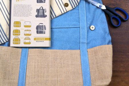 Learn how to sew and how to make a cooper bag in this great course in a beautiful crafting studio in Battersea, London.