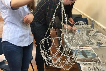 Dazzle your friends and family with your new chandelier making skills learned at Midas Touch Crafts in SE1 London, perfect for gifts and crafting.