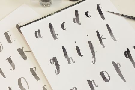 Come and learn brush lettering with Alice Gabb at Pearl & Groove.