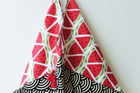 Learn to stitch a Japanese triangle tote bag with guest tutor and YouTuber Tree Walsh's 'Stitch Your Own Japanese Triangle Tote Bag' class in Hackney, London.