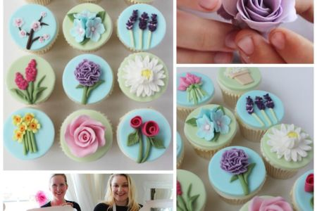 Create a beautiful, edible cupcake garden full of iced flower decorations with the Flower Garden Class at Lady Berry Cupcakes in Wandsworth, London