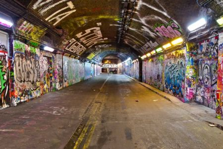No experience is needed for this street art inspired evening of social painting in 'Banksy Tunnel' in Waterloo - it's time to feel your inner artist!