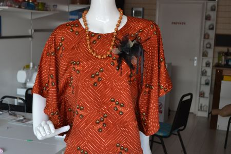 Create a flared top and learn how to make patterns in the 'Design Your Own Cape Top – Freestyle' Class at Luchi & Ota in Edgware, NW London