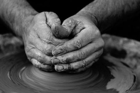 Get messy and creative in the '2.5 hours wheel thrown pottery basics' class at GoCreate in Wimbledon, London.