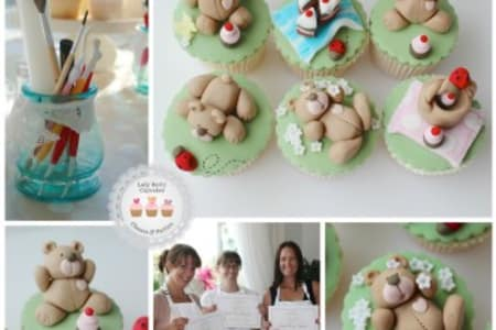 Craft adorable decorations for cupcakes! The 'Teddy Bear's Picnic' workshop teaches you how to create 12 different teddy bear decorations in Wandsworth, London.