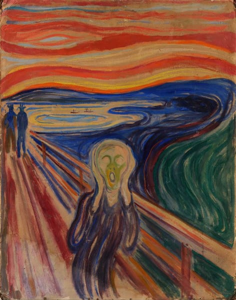 Paint The Scream for Halloween: Trafalgar Square by PopUp Painting - art in London