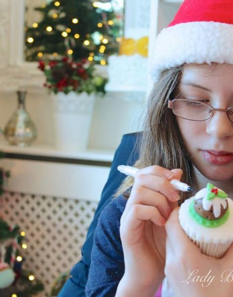 Parent and Child Christmas Cupcakes by Lady Berry Cupcakes - food in London