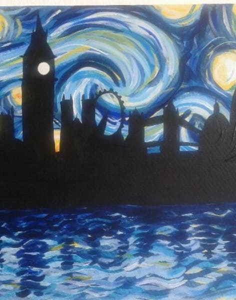 Paint Starry Night: Monument by PopUp Painting - art in London