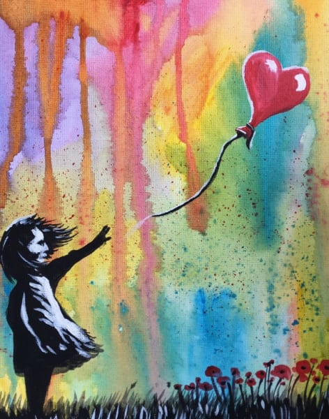 Paint like Banksy with poppies - Angel by PopUp Painting - art in London