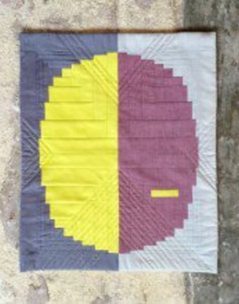 Make your own Curved Log Cabin Quilt by The Village Haberdashery - crafts in London