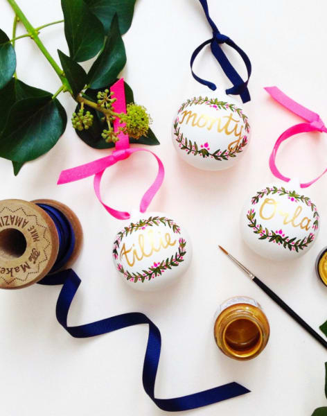 Hand Painted Christmas Bauble Workshop by Hello Marilu - art in London