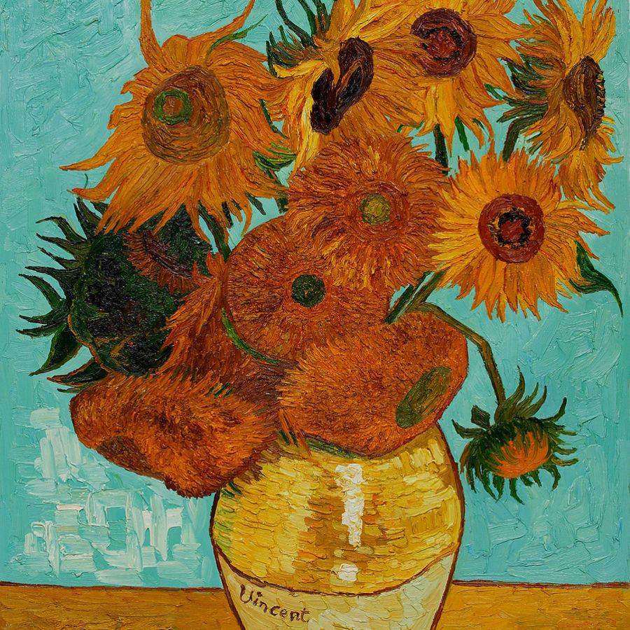 Paint Van Gogh's Sunflowers: London Bridge by PopUp Painting - art in London