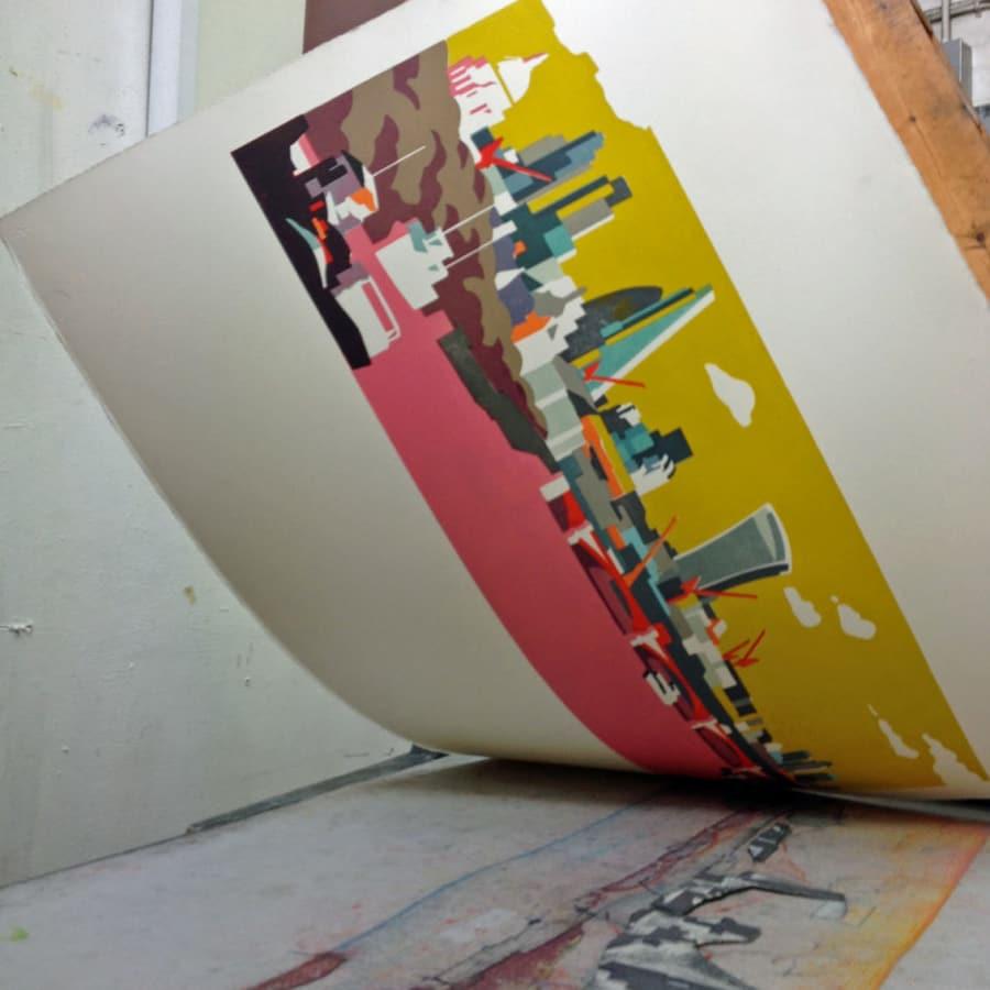 Printing with Lino by Artichoke Printmaking - art in London