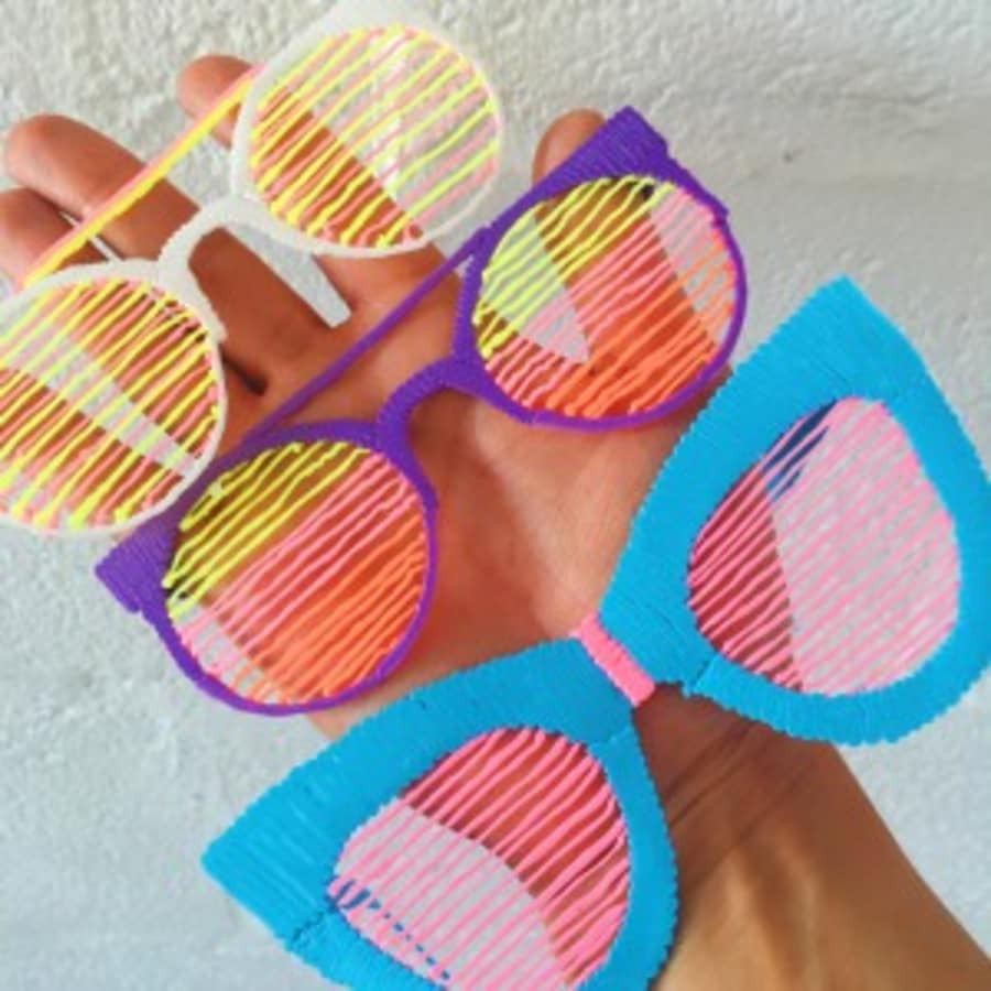3D Printed Sunglasses by Tea & Crafting - crafts in London