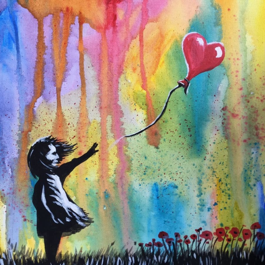 Paint like Banksy – Girl with the Balloon: London Bridge by PopUp Painting - art in London