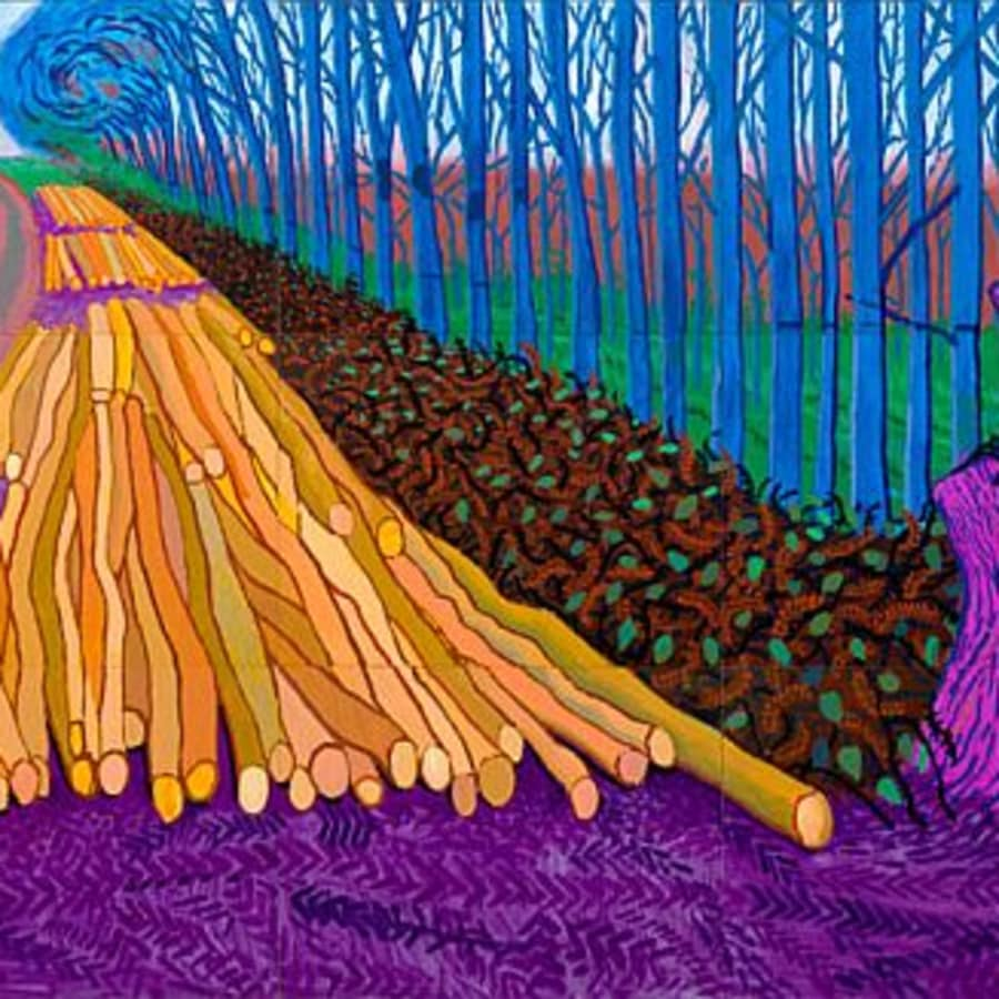 Paint Hockney: Wimbledon by PopUp Painting - art in London