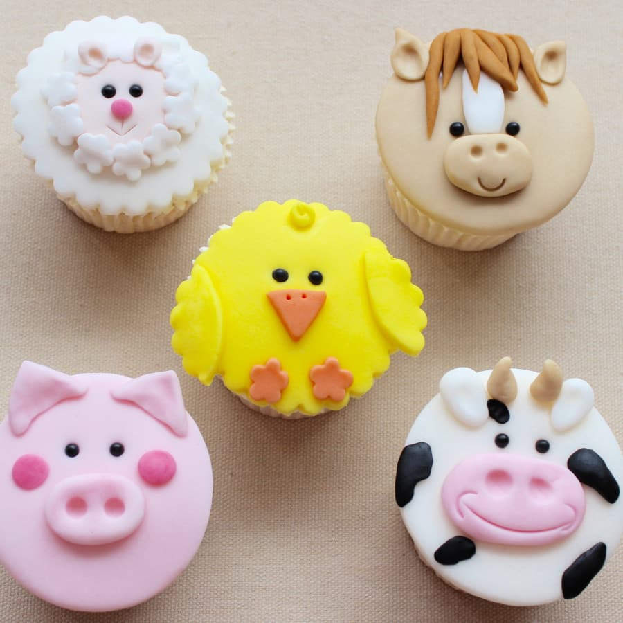 Adult & Child Farm Yard Cupcakes by Lady Berry Cupcakes - food in London