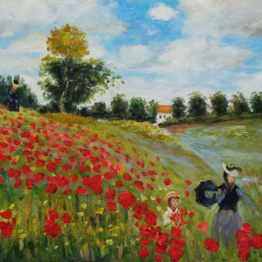 Paint Monet's Poppy Fields and Help the Heroes - Southbank by PopUp Painting - art in London